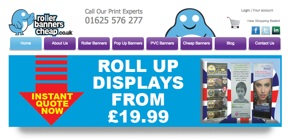 Visit roller banners cheap website